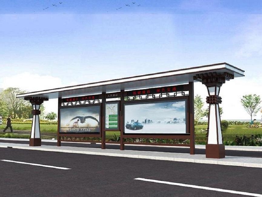 黔西南双面滚动候车亭公交停靠站系列设施采购