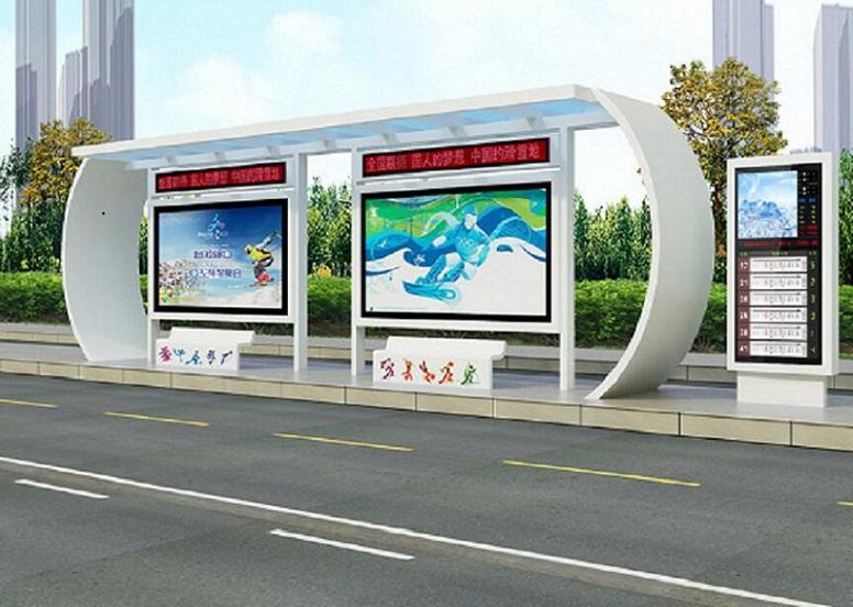 洛阳公交站台单面公交站台制作可信赖厂家