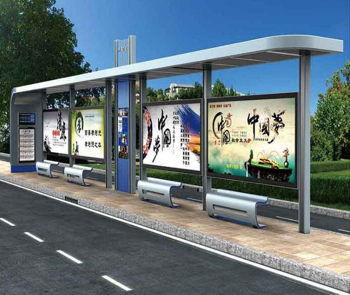 临沂少数民族风格候车亭单面公交站台制作可信赖厂家