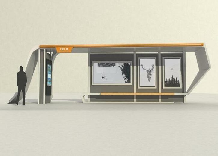 临沂异形候车亭公交站台制作款式设计