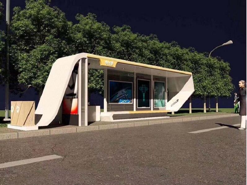 临沂创意公交站台公交站台制作款式设计