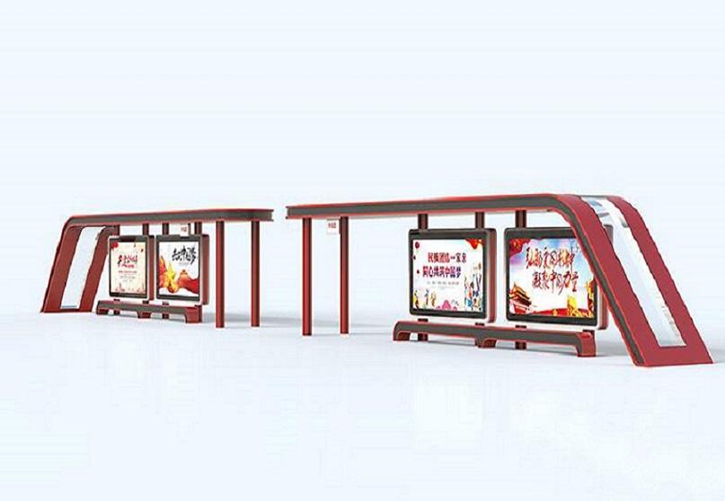 莆田创意公交站台单面公交站台厂家指导安装
