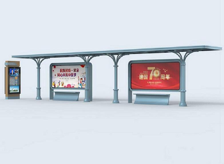 莆田少数民族风格候车亭单面公交站台生产品质过硬