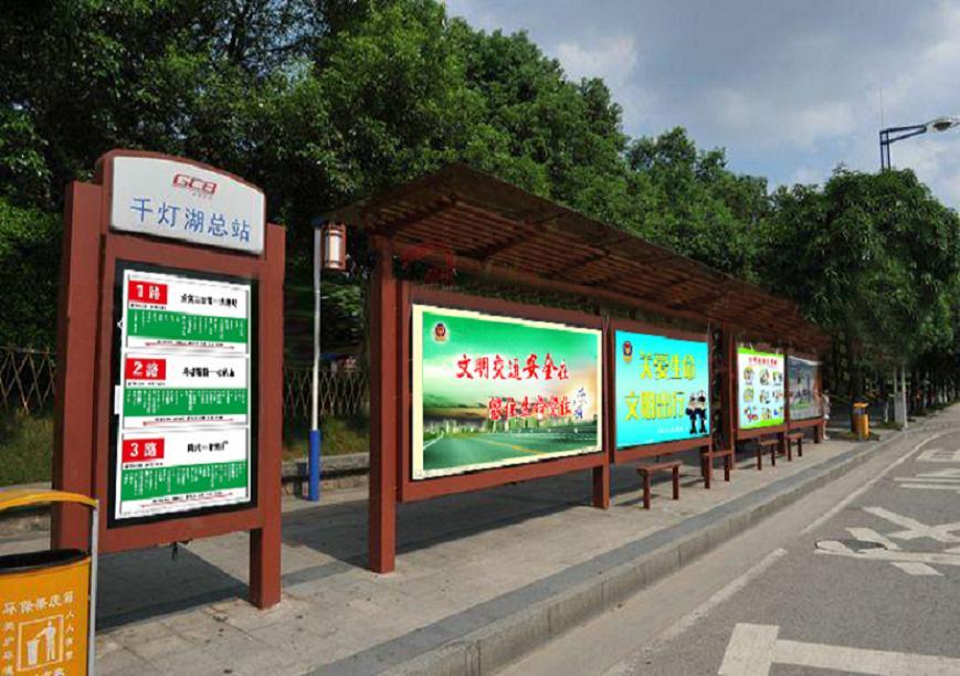 锦州工艺复杂候车亭公交站亭样品采购