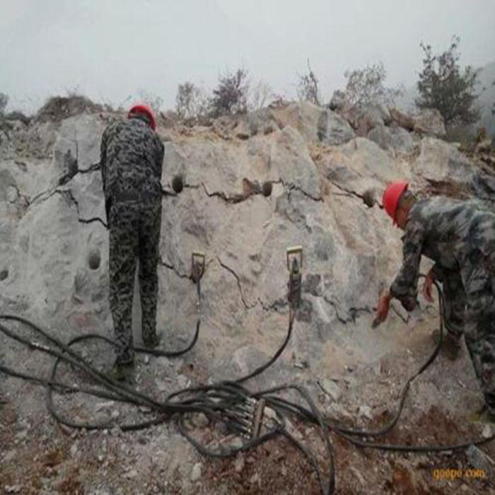 开采矿山用液压劈裂棒岩石开采用液压分石机