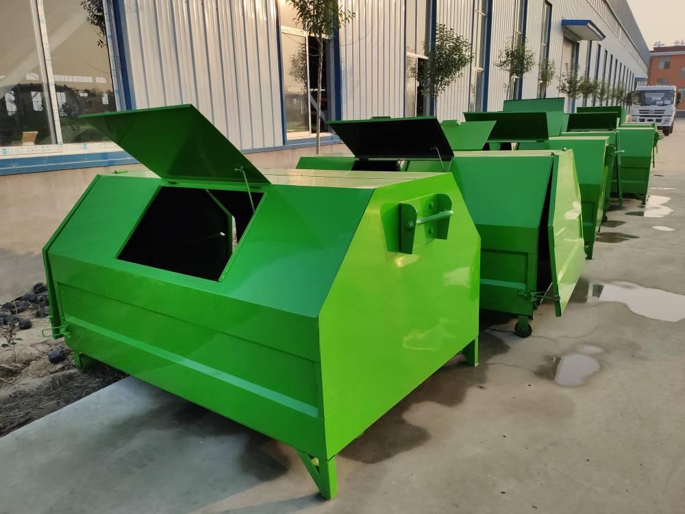 江苏省常州市三方垃圾箱 三轮勾臂式垃圾箱工厂
