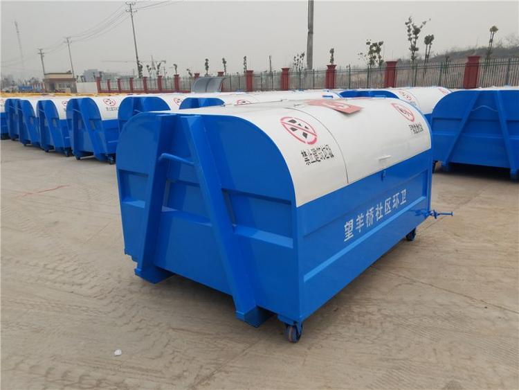 河南省平顶山市钩臂垃圾箱   不锈钢垃圾箱  市场价格