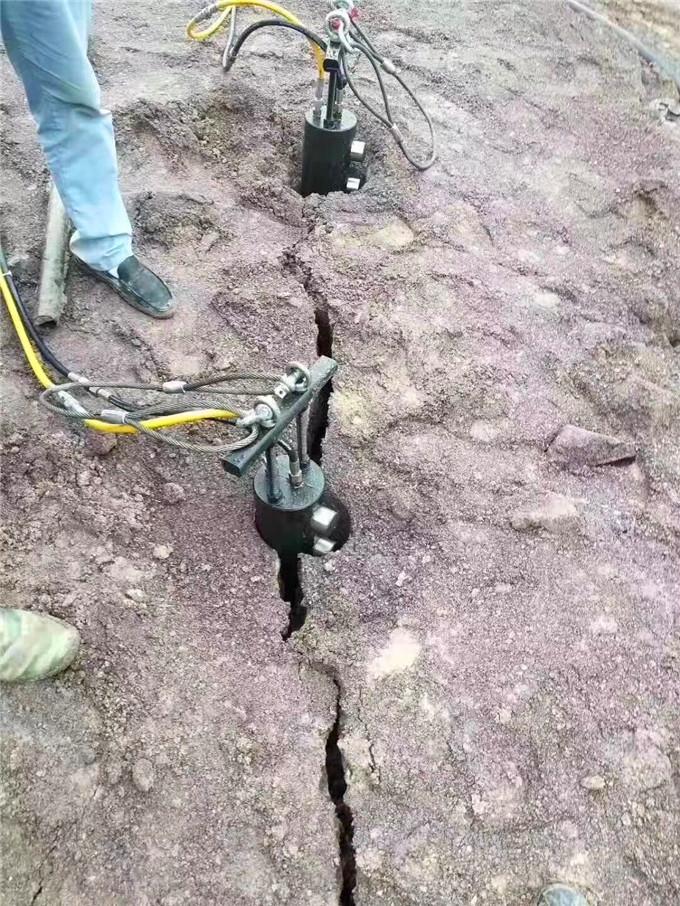 廊坊愚公斧静态液压膨胀机器和田玉开采设备