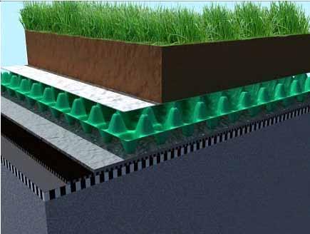 安庆潜山塑料排水板1400g 1500g滤水板