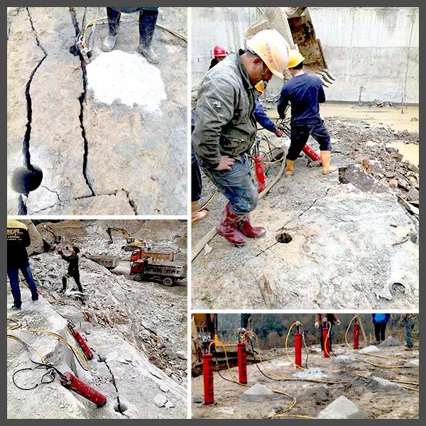 马鞍山愚公斧劈裂机岩石开采设备岩石开采设备