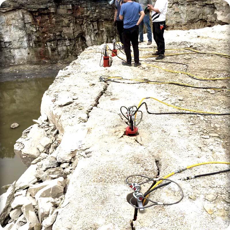 漳州液压岩石分裂机流量是多少兆