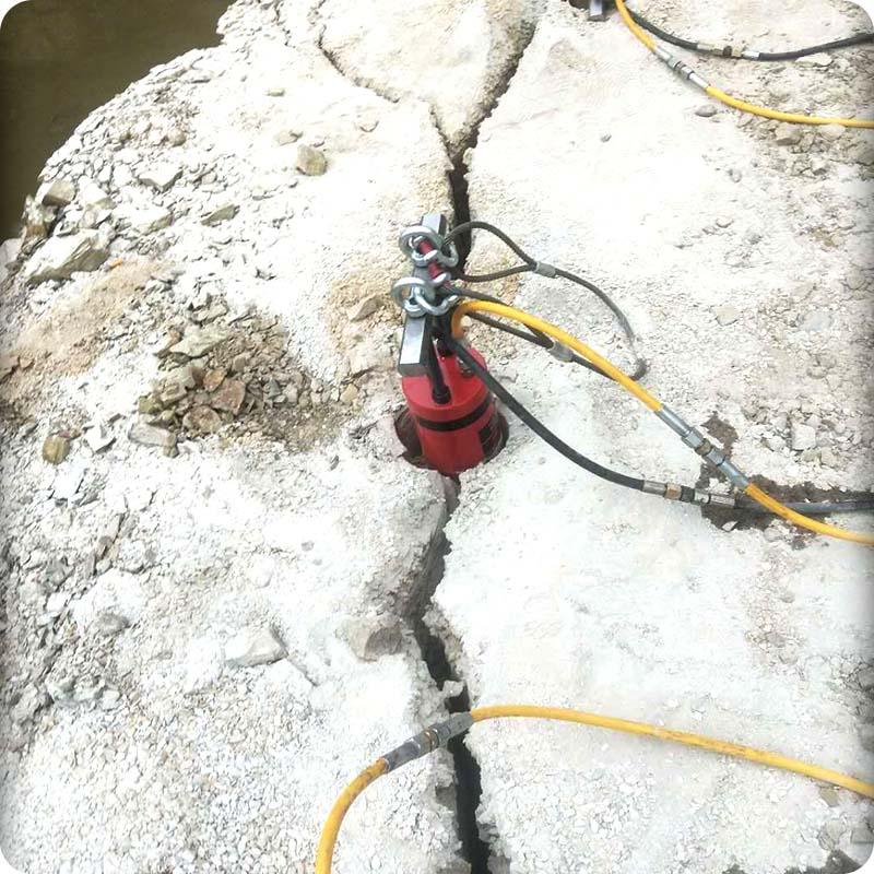 江西超大型岩石分裂机施工方案