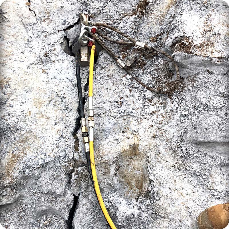 安庆超大型岩石分裂机施工方案