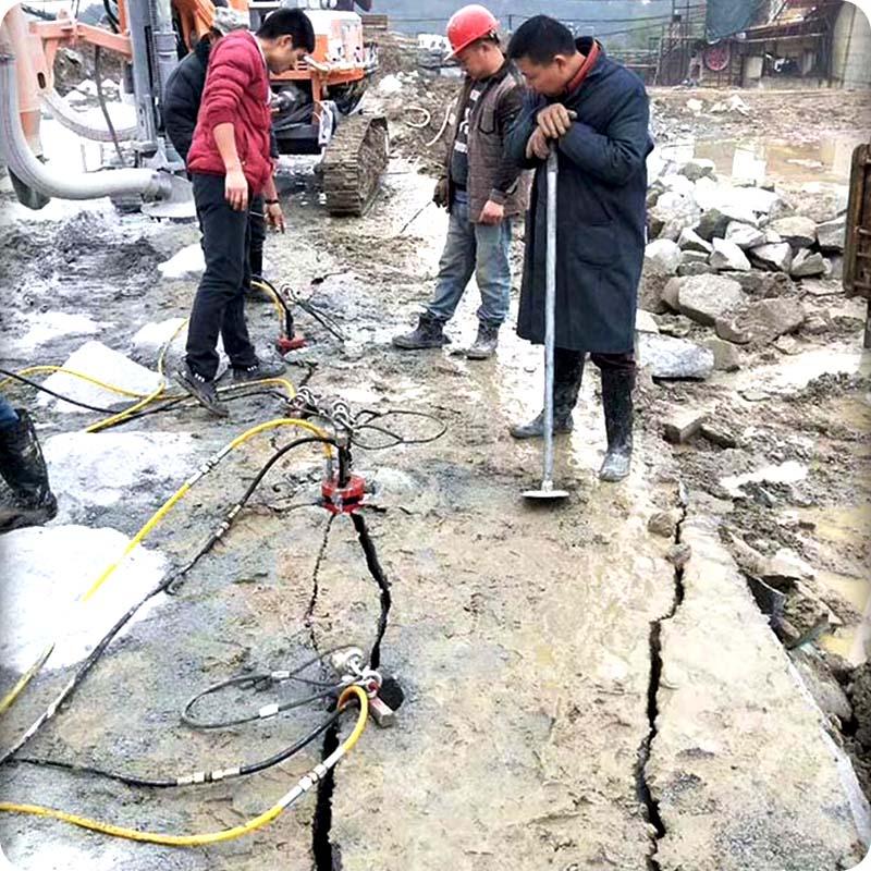 漳州大型岩石分裂机工作原理