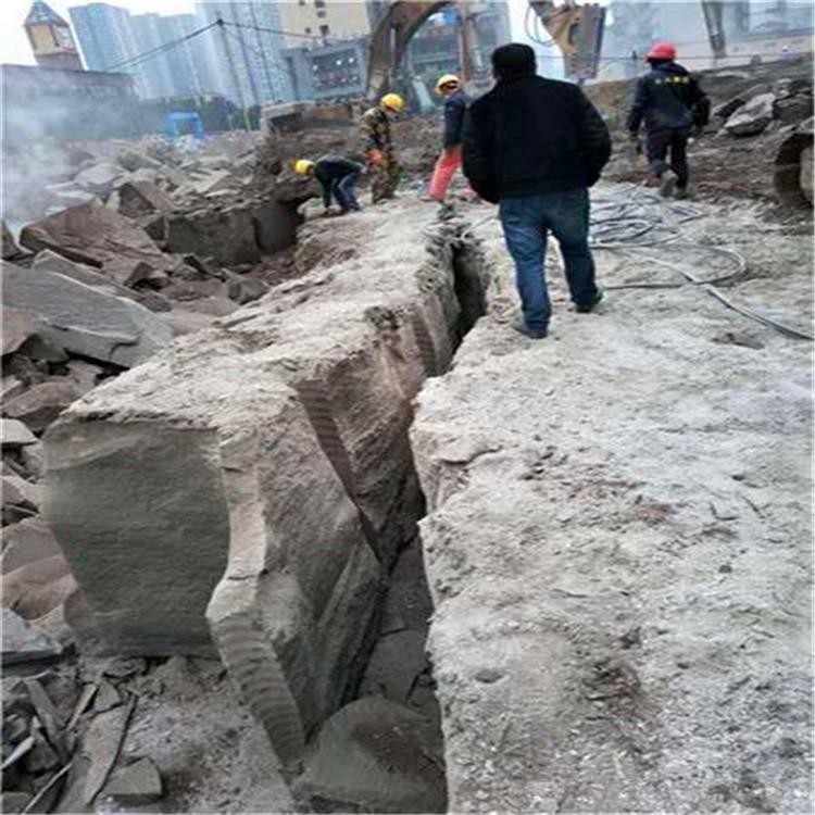 辽宁隧道岩石静态劈裂机厂家供货采石机