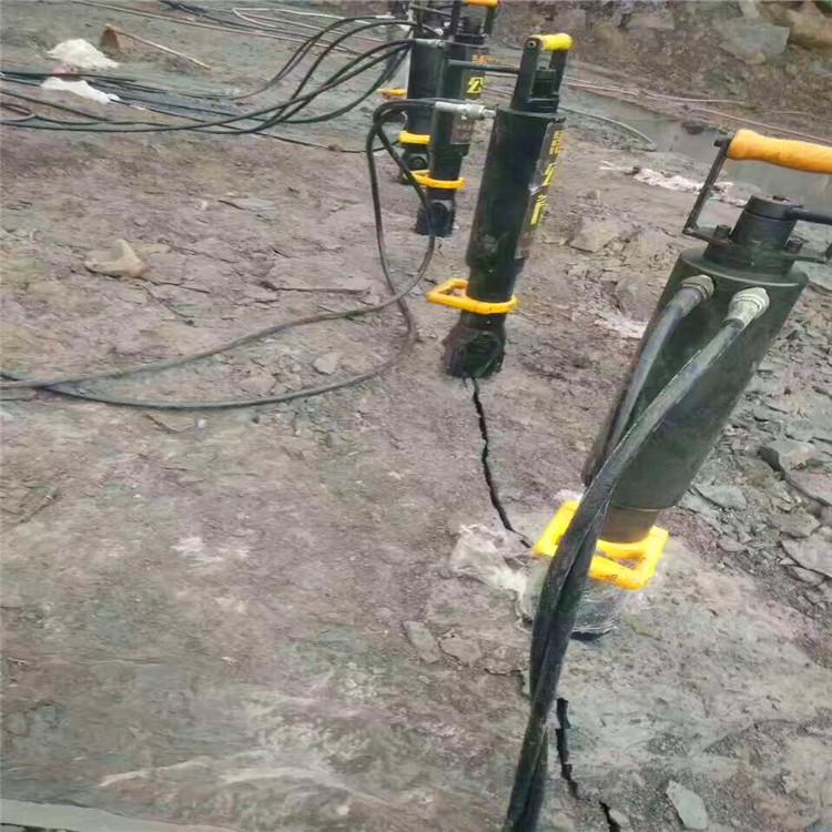 湖南中方隧道岩石静态劈裂机厂家供应挖停车场基础