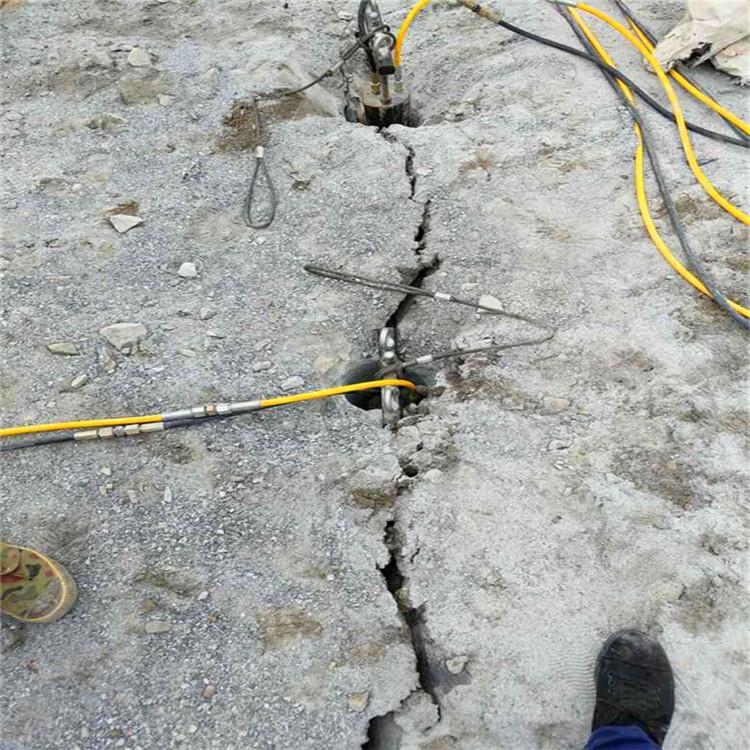 海南劈裂机劈裂效果怎么样找哪家挖岩石基础