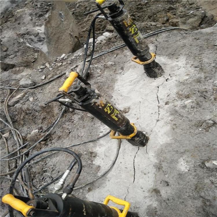 黑龙江凿岩机打不动挖竖井破石头劈裂机