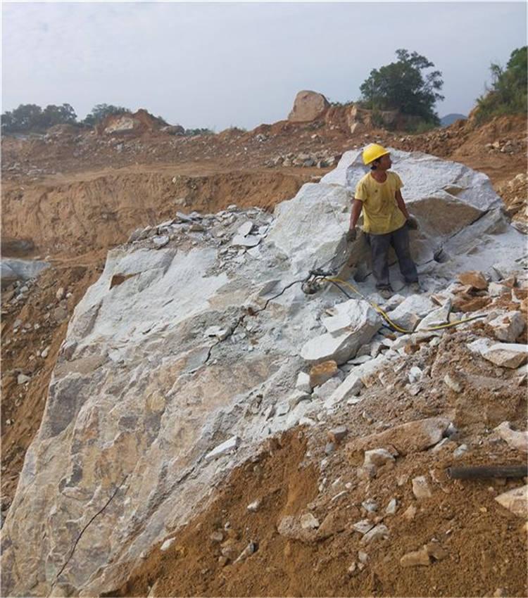 龍子湖大塊孤石如何快速破開方便人工操作的