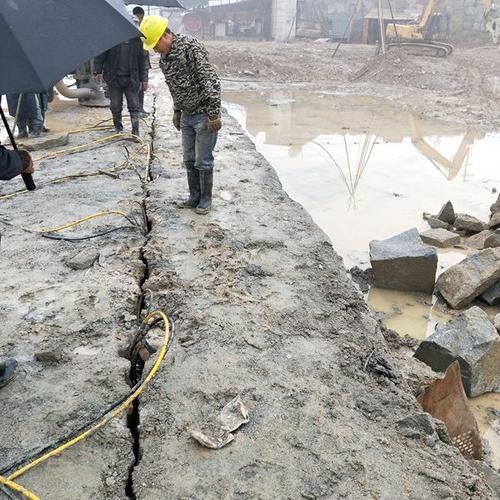 临沂罗庄基石地基开挖青石岩石分裂机