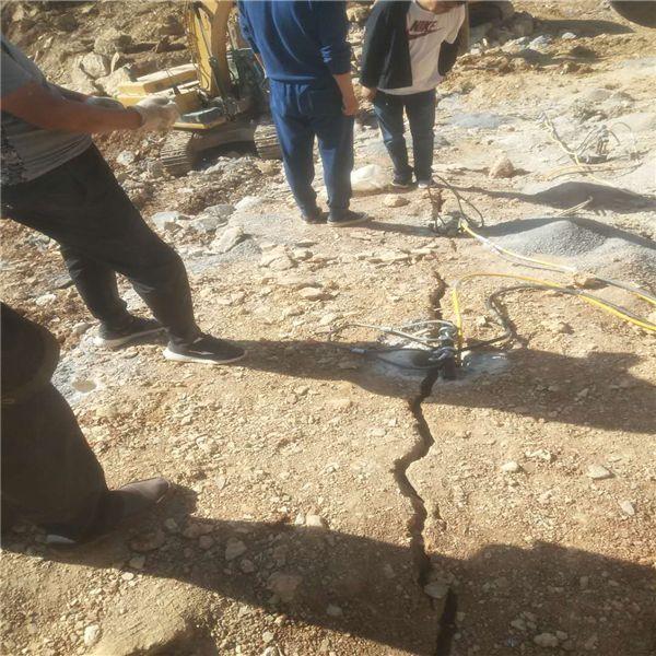 辽宁挖大型沟渠岩石分裂机130分裂机