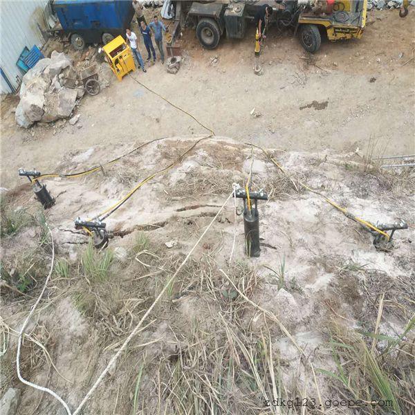 东营道路扩建岩石劈裂机