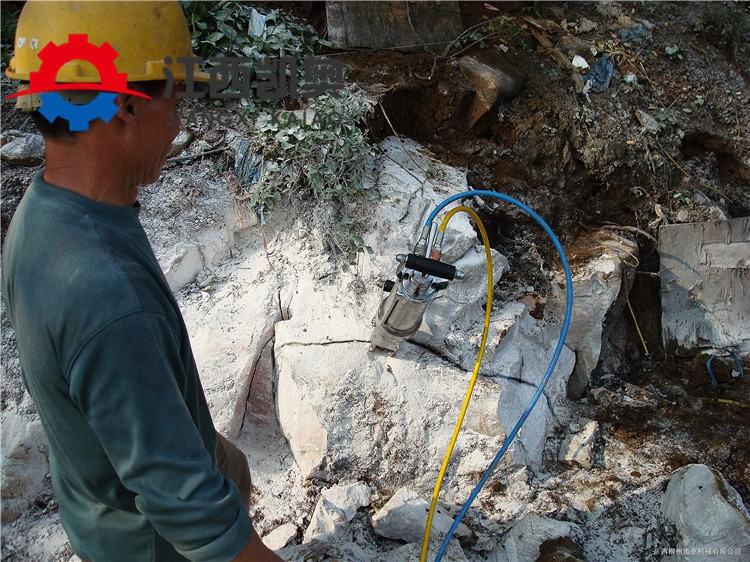 淄博修地铁开挖石头分裂机