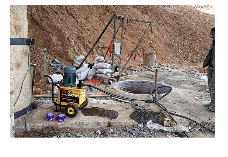 海西遇到石层矿山开采机器施工快