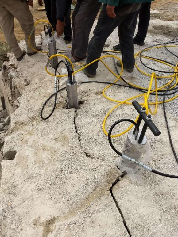 资阳大石块分解液压柴动分裂机
