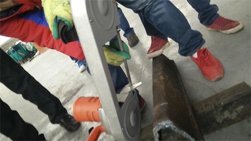 西藏石油管道风动切割锯