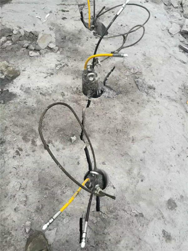 宁德地基基础开挖静态破石头劈裂机