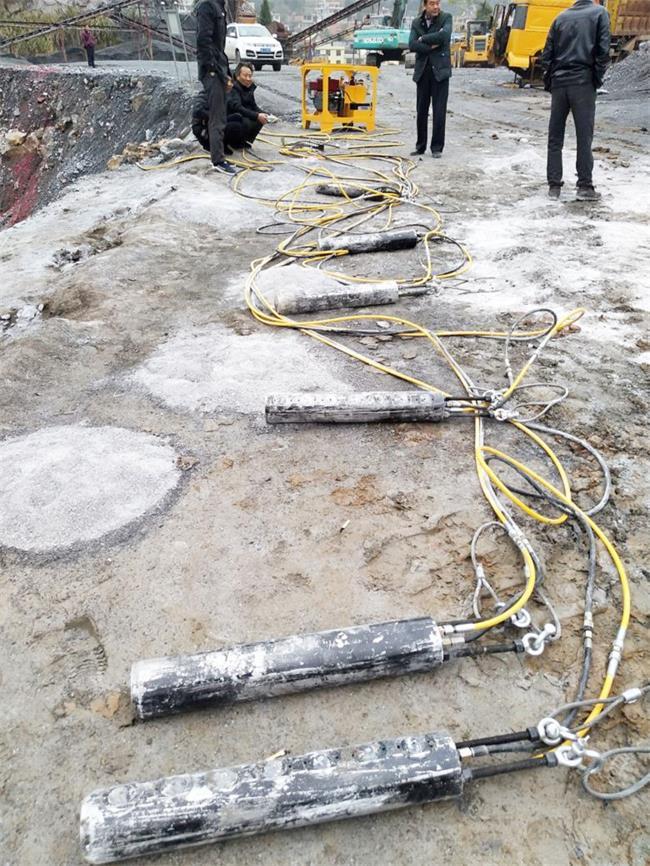 东营道路修建开采岩石小型劈裂机
