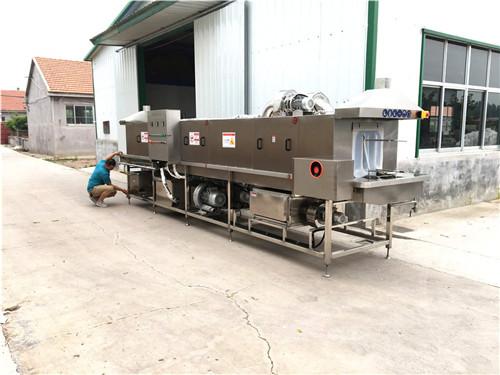 海南肉串托盘清洗机清洗消毒一次完成自动化生产行业趋势