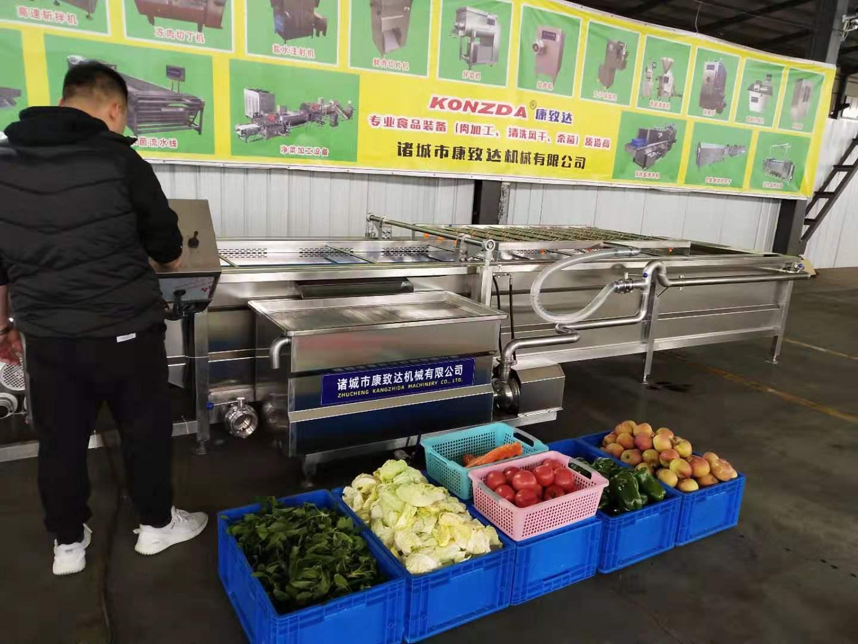 东营滚筒式果蔬清洗机多种规格一台完成减少投资节约成本操作简单技术支持