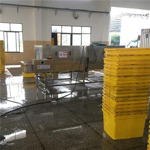 长沙 品配送塑料周转箱清洗机双通道设计节省场地提高清洗量减少人工节水环保