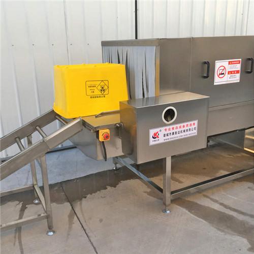 海南黄色医疗箱清洗机2人即可操作全程自动化清洁度高数量大
