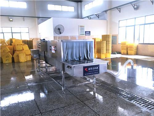 海南 品配送箱清洗机高压清洗按级分段清洗全程自动化解放双手提高效率