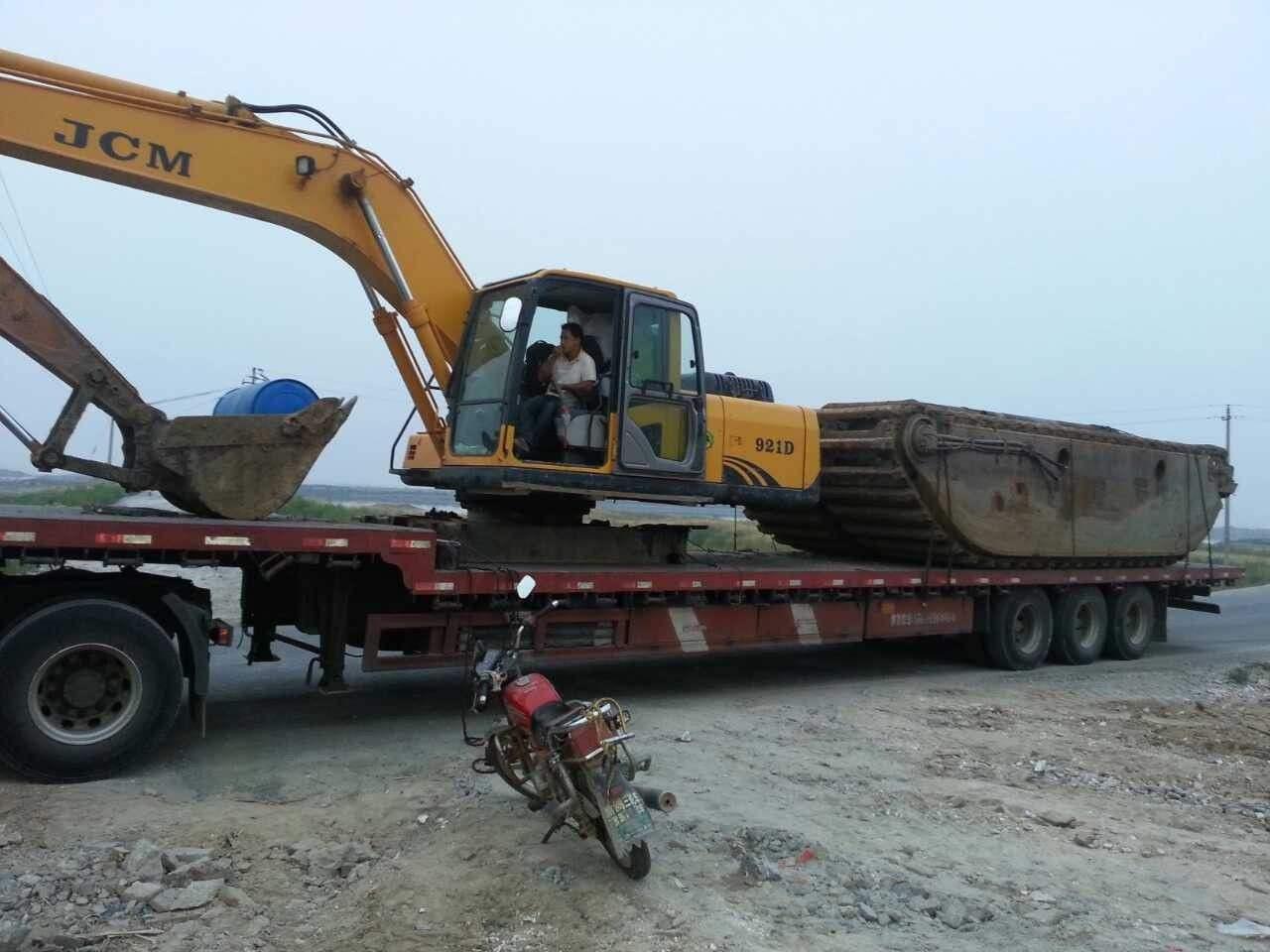 陕西安康水陆挖机出租价格材质齐全