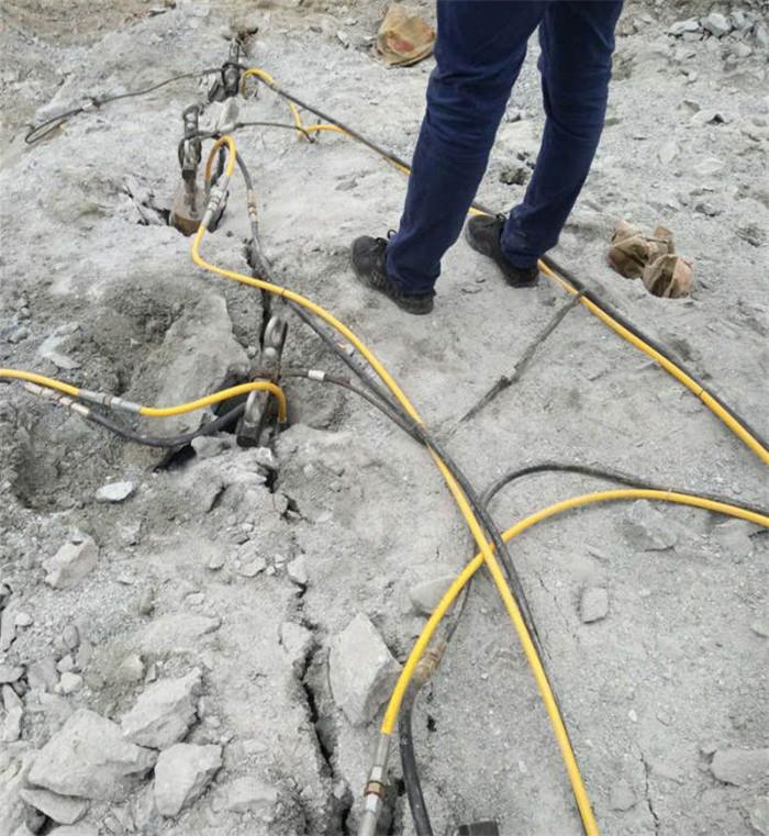 长沙铁路建设不用放炮开裂岩石 石材劈裂机