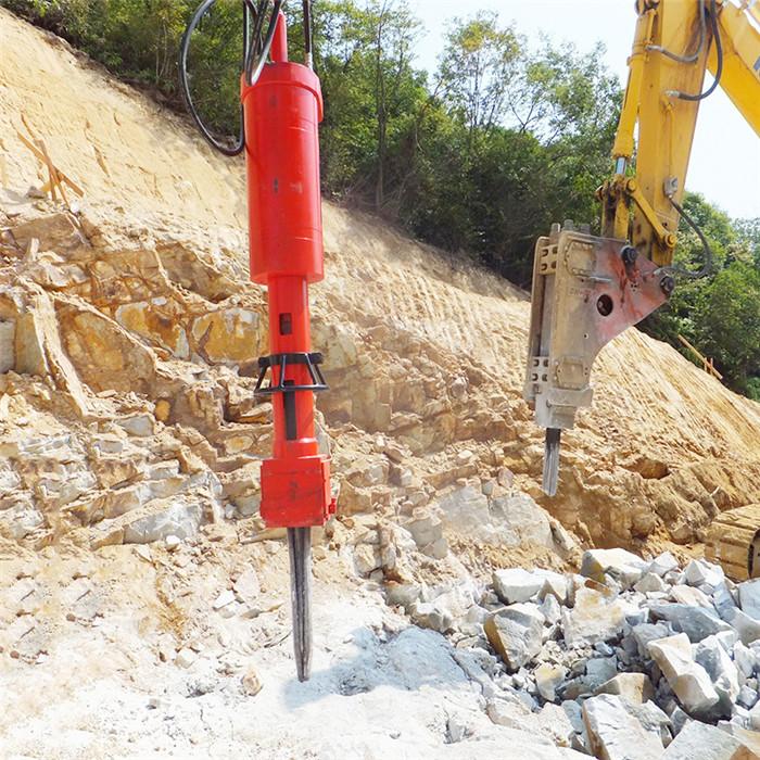 安庆矿石开采不用放炮怎么办 混凝土岩石开裂机