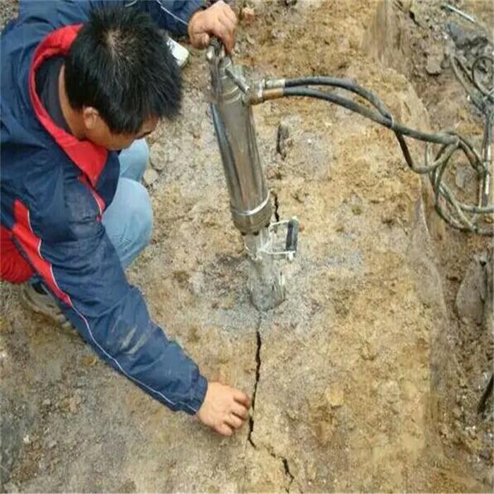 安庆静态分裂岩石机器 电动岩石碎裂机