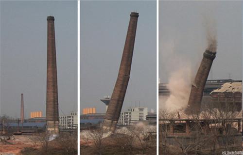 海南人工拆除水泥烟囱公司欢迎您