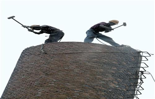 临沂人工拆除砖砌水塔公司