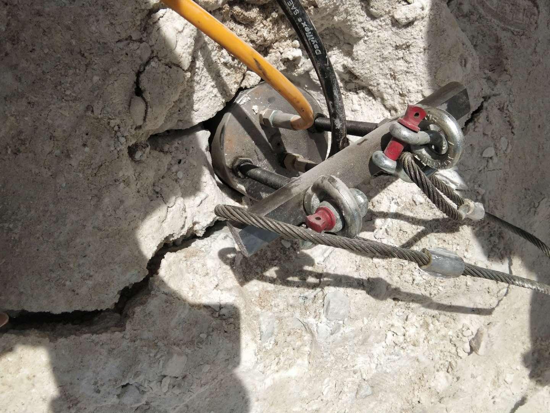 蚌埠挖機用不了巖石拆除機械巖石撐裂器