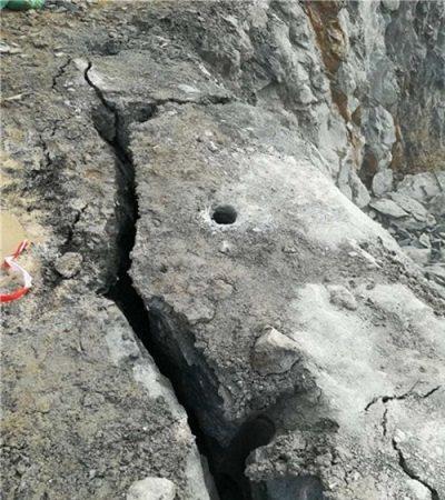 韶关静暴硅石玉石矿开采机器裂石机环保设备