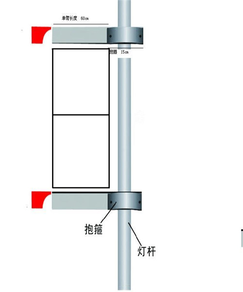 内江常规可定做马路道旗|扁担旗灯杆架子