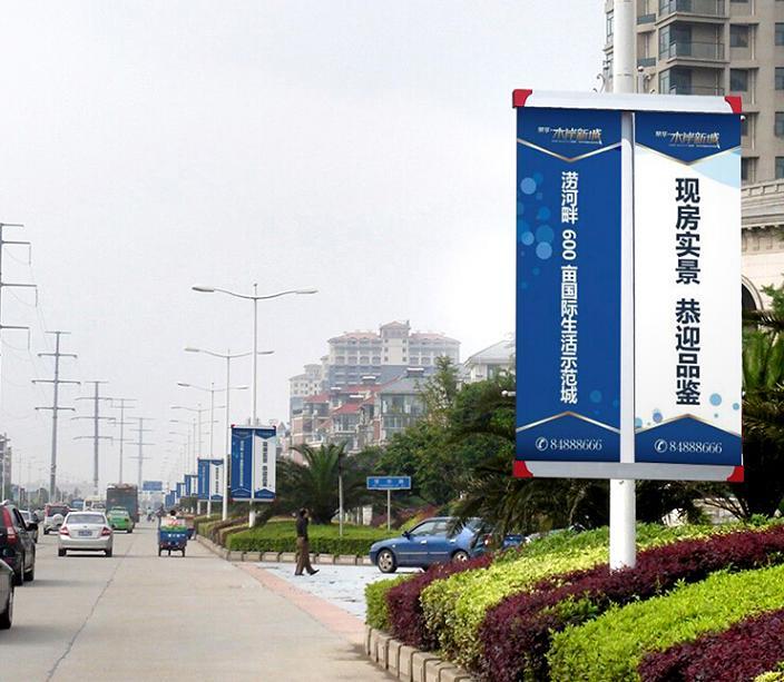 鹤壁广场中国红电杆灯箱质量好