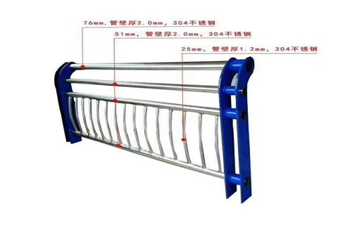吕梁304不锈钢复合管护栏