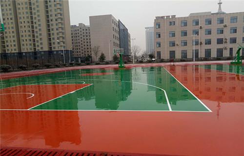 辽宁塑胶篮球场铺装跑道厂家