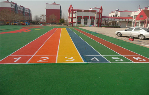 东营橡胶跑道球场材料丙烯酸材料